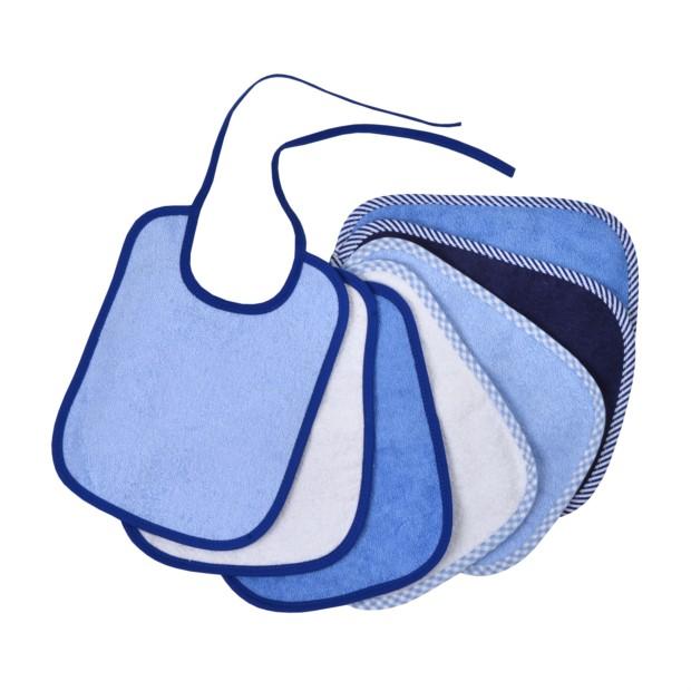 Bindelätzchen 7er Pack blau 20x25 cm