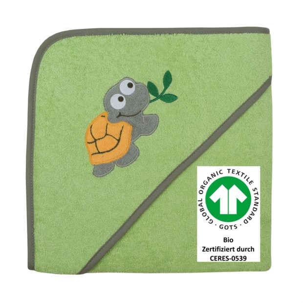 Schildkröte opalgrün Kapuzen-Bt. Größe 100/100