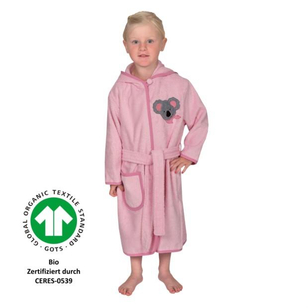 Koala Mädchen perle Kinder-Bademantel 74/80-110/11