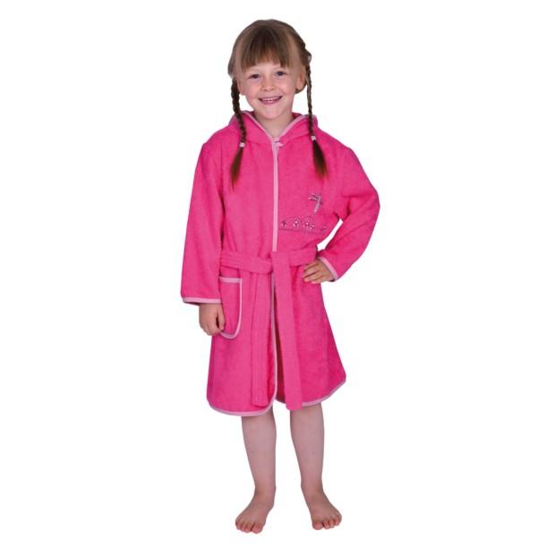 Schmetterling pink Kinder-Bademantel Gr. 74/80