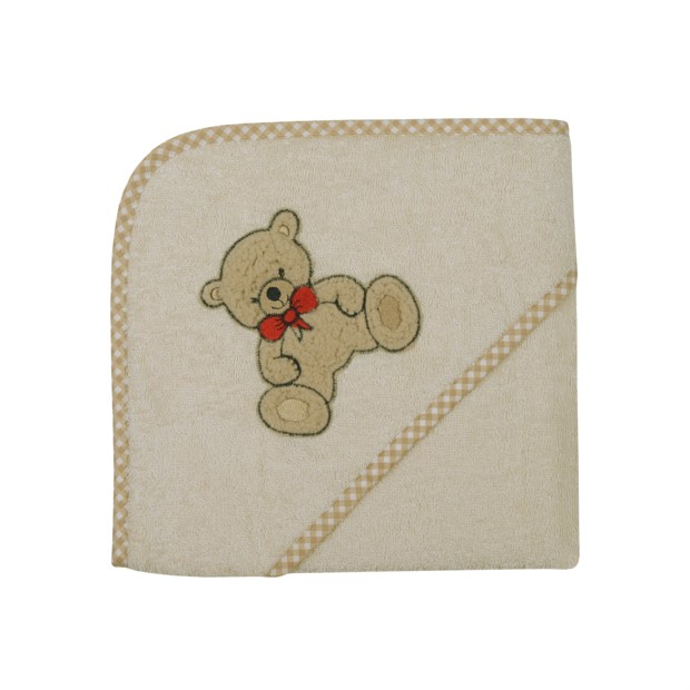 Teddy II natur Kapuzen-Bt. Größe 80/80