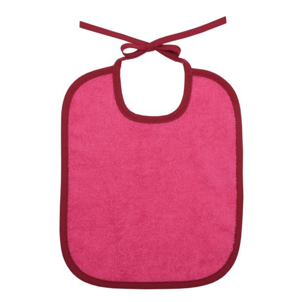Uni rosa/burgunder Lätzchen 25 x 30 cm