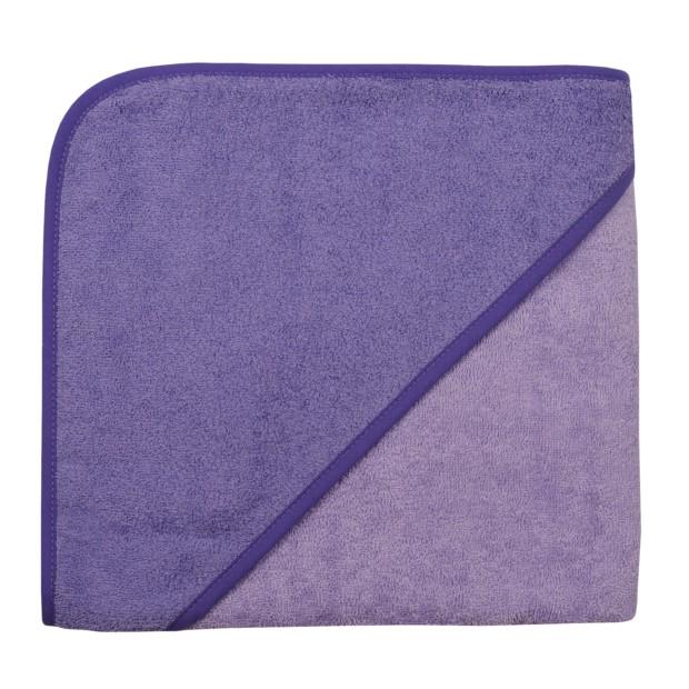 Uni flieder/violett Kapuzen-Badetuch 100 x 100 cm