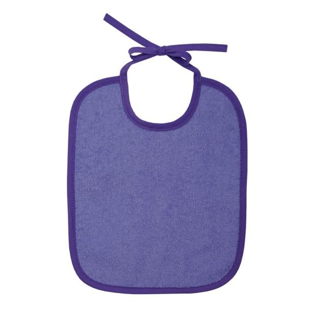 Uni violett Lätzchen 25x30 cm