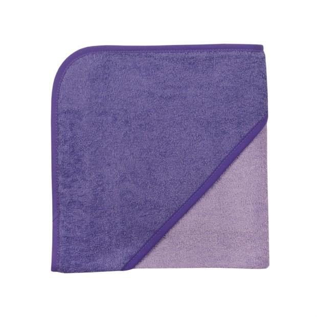 Uni flieder/violett Kapuzen-Badetuch 80 x 80 cm