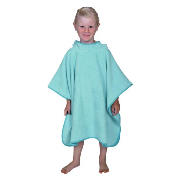 Uni blaugrün Bade-Poncho Größe 120/75