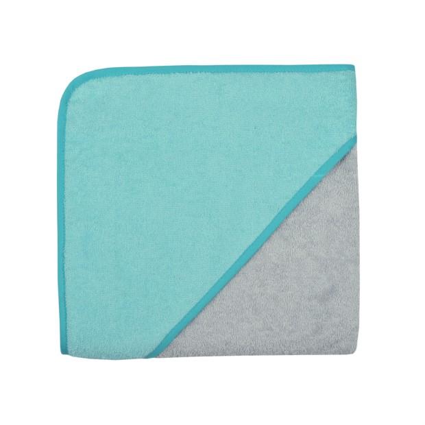 Uni chrom-blaugrün Kapuzen-Bt. Größe 80/80