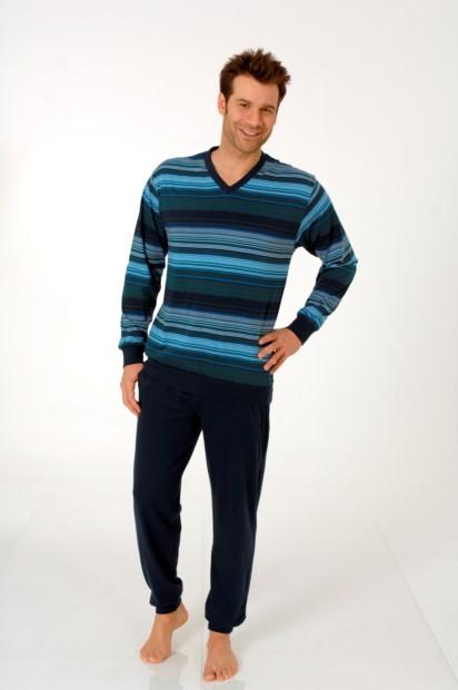 Herren Single-Schlafanzug blau Normann 24110190712