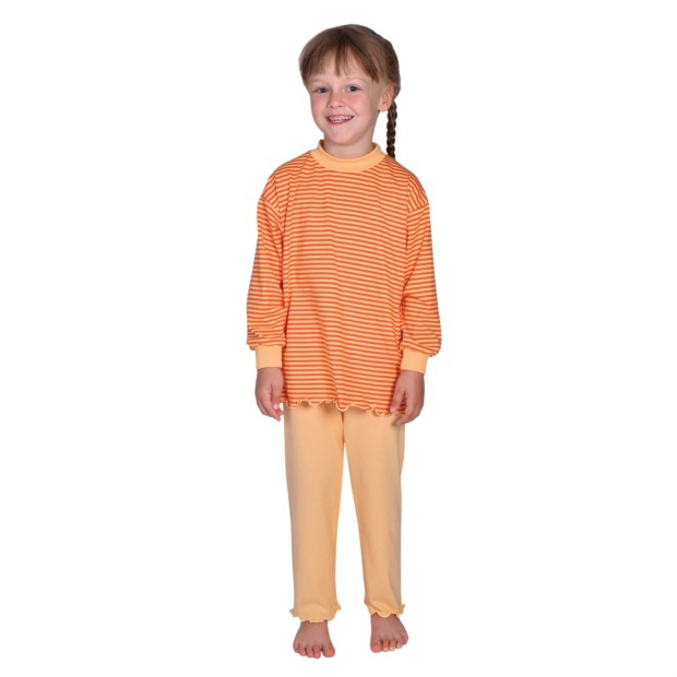 86549db7b1 Ringel orange Schlafanzug Gr. 92-116 - WÖRNER Südfrottier