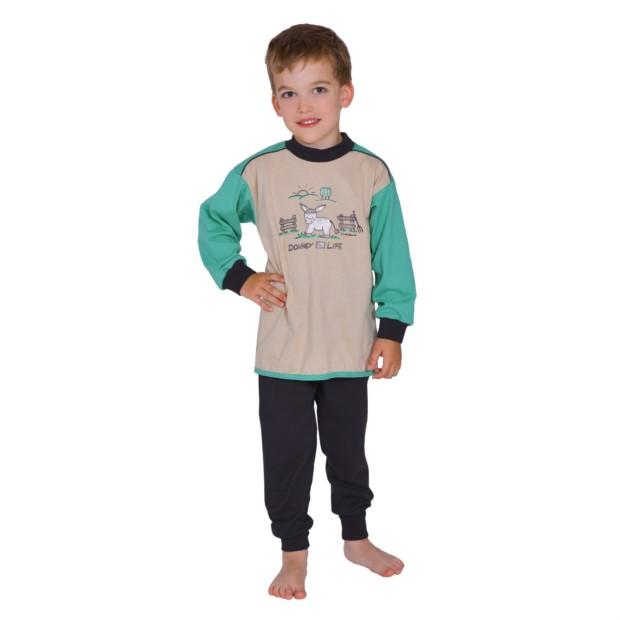 Kn.Single Schlafanzug 2-tlg. Esel kitt 104