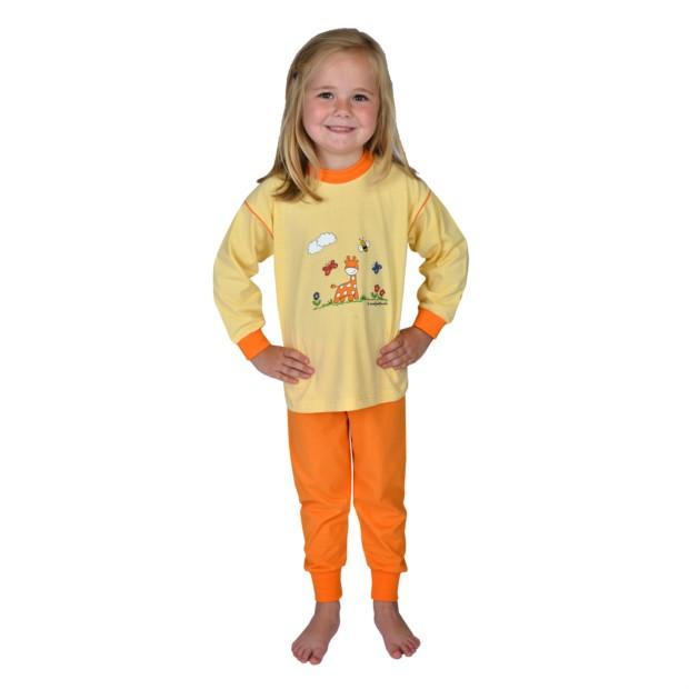 Md.Single Schlafanzug 2-tlg. Giraffe gelb 80-116