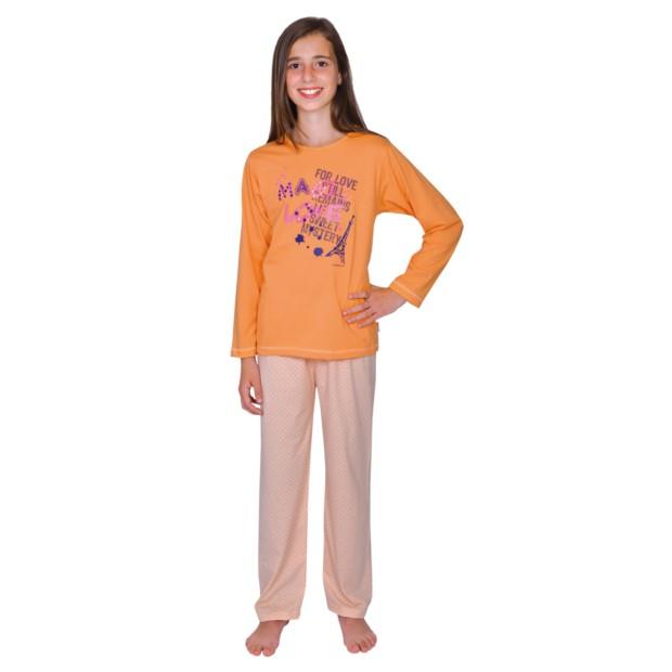 Md. Single-Schlafanzug Love maracuja Größe 116-176