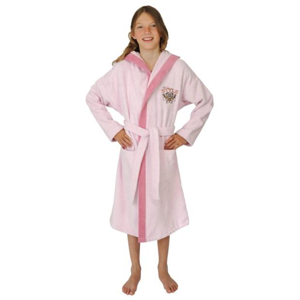 Mädchen-Bademantel Style rosé Größe 164