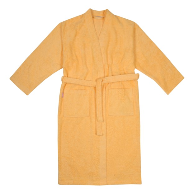 Da./He. Bademantel Kimono apricot Größe S-XL
